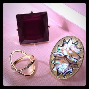 🌸 Trendy 3 ring bundle 🌸